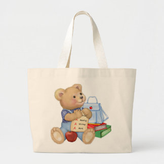 School Bear Large Tote Bag