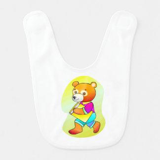 School Bear Baby Bib
