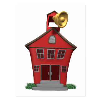 School Bell Ringing Postcard
