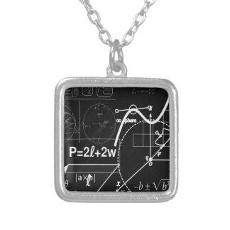 School board silver plated necklace