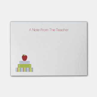 School Book Stack Teacher's Note Pad