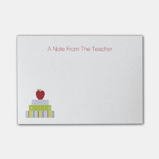 School Book Stack Teacher's Note Pad
