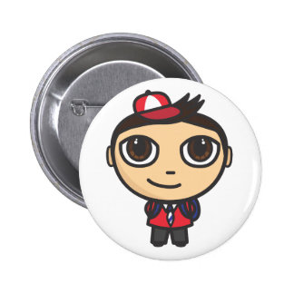 School Boy Close up Button Badge