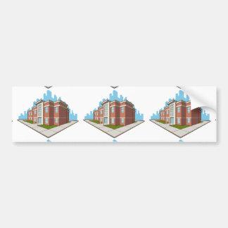 School Building Bumper Sticker