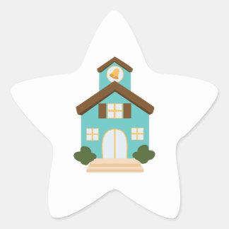 School Building Star Sticker