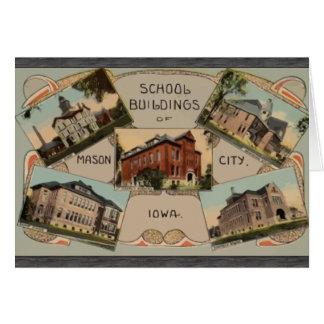 School Buildings Of Mason City Iowa, Vintage Greeting Card