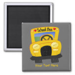 School Bus 2 (Customisable) Square Magnet