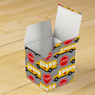School Bus and Stop Sign Favour Box