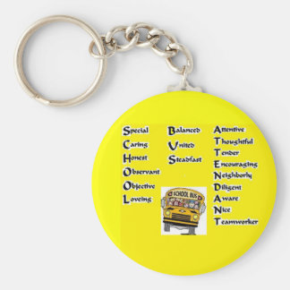 School Bus Attendant Key Ring