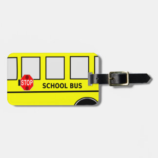 School Bus Bag Tag