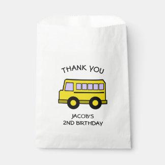 School Bus Birthday Favour Bag