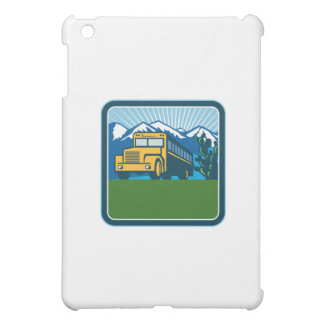 School Bus Cactus Mountains Square Retro iPad Mini Case