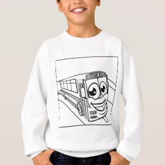 School Bus Cartoon Character Mascot Scene Sweatshirt
