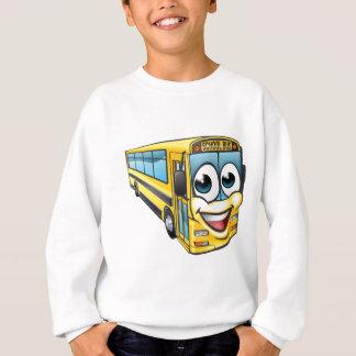 School Bus Cartoon Character Mascot Sweatshirt