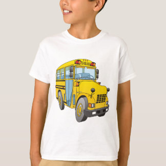School Bus Cartoon T-Shirt
