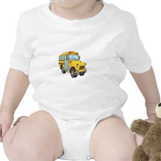 School Bus Cartoon T-shirts