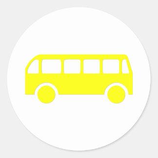 School Bus Classic Round Sticker