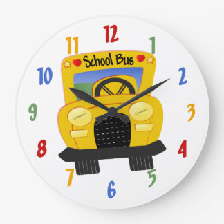 School Bus Decorative Wall Clock