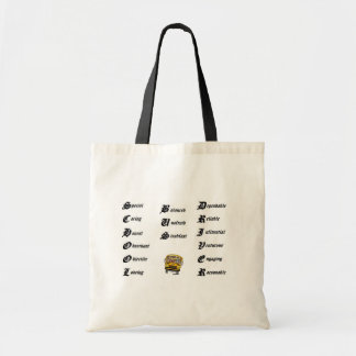 School bus driver budget tote bag