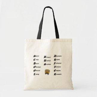 School bus driver budget tote bag