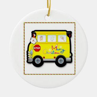 School Bus Driver Christmas Ornament