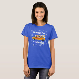 School Bus Driver Christmas Winter T-Shirt