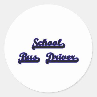 School Bus Driver Classic Job Design Round Sticker
