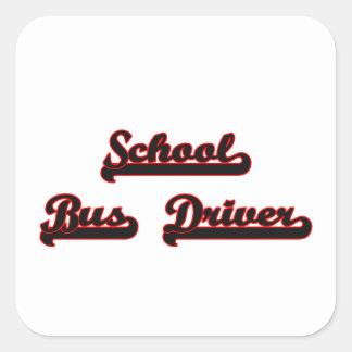 School Bus Driver Classic Job Design Square Sticker
