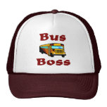 School Bus Driver Hat.  Bus Boss.