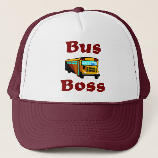 School Bus Driver Hat.  Bus Boss. Cap