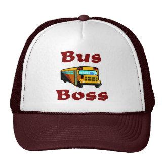 School Bus Driver Hat.  Bus Boss. Cap