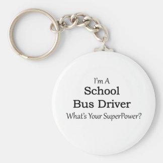 School Bus Driver Key Ring