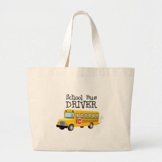 School Bus Driver Large Tote Bag