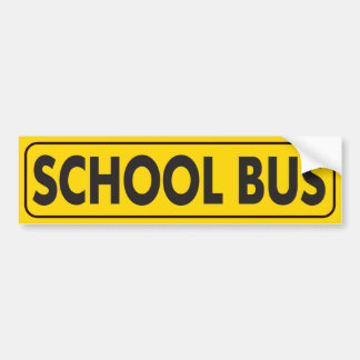 SCHOOL BUS FREQUENT STOPS CAUTION WARNING STUDENTS BUMPER STICKER