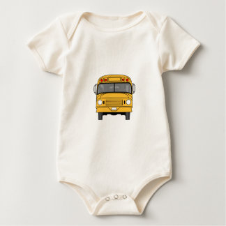 School Bus Front Baby Bodysuit