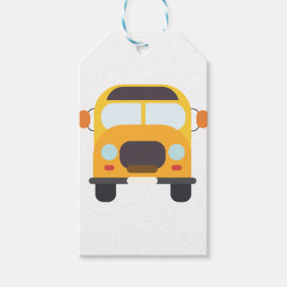 School Bus Front Gift Tags