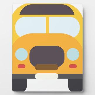 School Bus Front Plaque