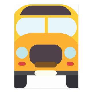 School Bus Front Postcard