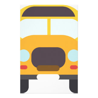 School Bus Front Stationery