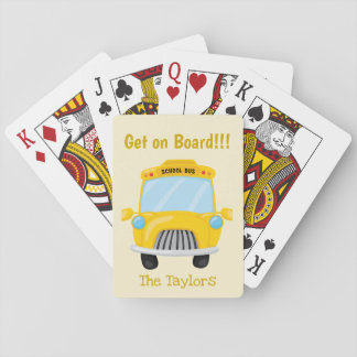 School Bus Get on Board Playing Cards