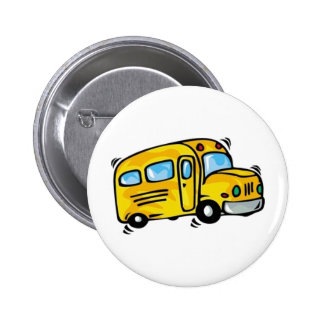 SCHOOL BUS GRAPHIC BACK ELEMENTARY GRADES LEARNING 6 CM ROUND BADGE