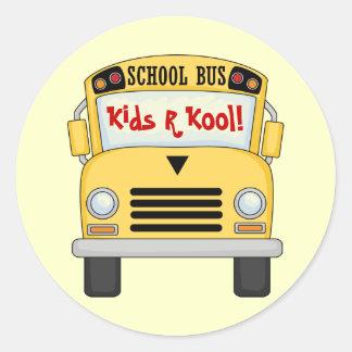 School Bus Kids R Kool Fun Stickers