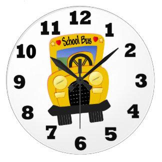 School Bus Large Clock