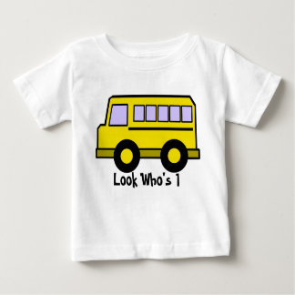 School Bus/ Look Who's 1 Infant T-Shirt