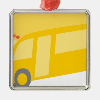 School Bus Metal Ornament