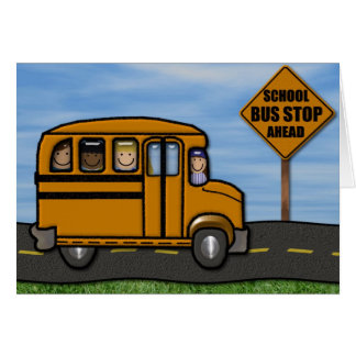School Bus Note Cards by MagsGraphics