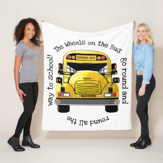 School Bus Personalized Blanket