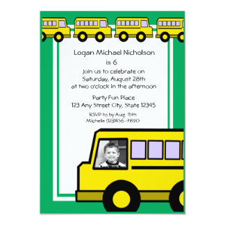 School Bus/ photo Card