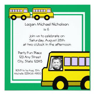 School Bus/ photo Card