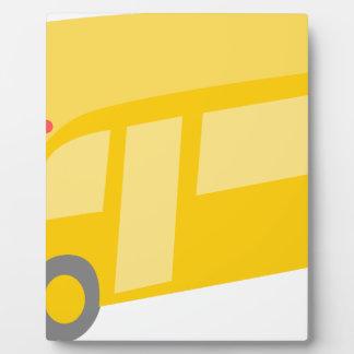 School Bus Plaque